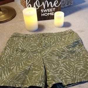 Women's Size 16 Mid Rise Shorts Green